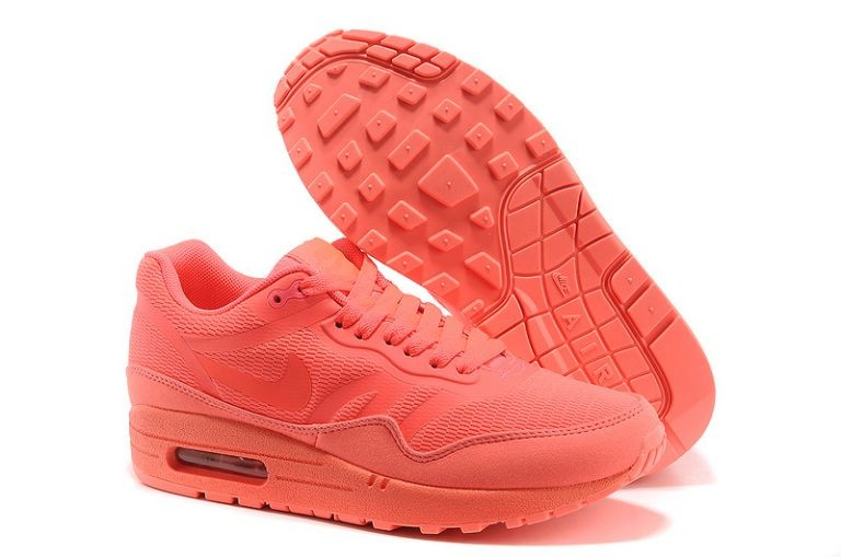 Nike Air Max 1 Premium Tape Women's Running Shoes Solar Red